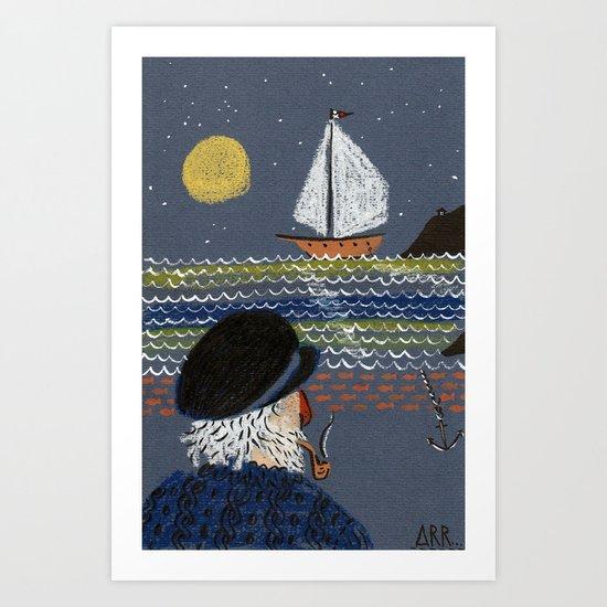Thurr be pi-raytes... Art Print
