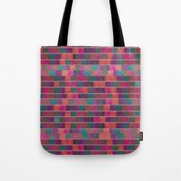 """Full Color Squares Pattern"" Tote Bag"
