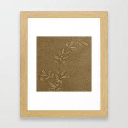 Sepia Vine Vintage Floral - Rustic - Hygge - Modern - Vintage - Farmhouse - Corbin Henry Framed Art Print