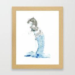 Water woman Framed Art Print