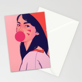 bubblegum pink Stationery Cards