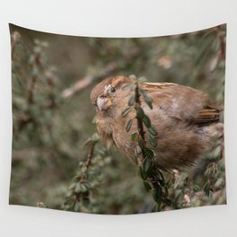 Little sparrow in the tress Wall Tapestry
