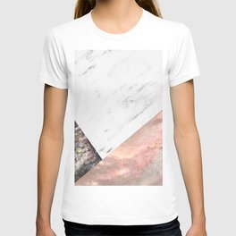 Marble with sequins and mother of pearl T-shirt