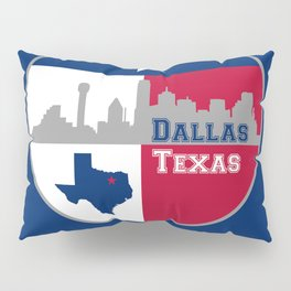 Dallas Texas Skyline Pillow Sham