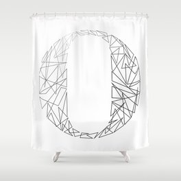 ''Geometry Collection'' - Minimal Letter O Print Shower Curtain