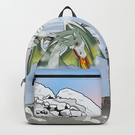 Dragons in a natural hot spring onsen Backpack