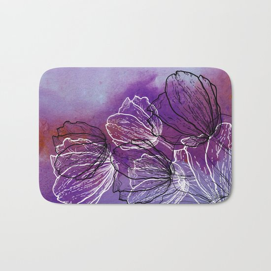 Colorful Flower Fantasy Bath Mat