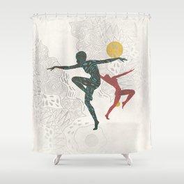 Ethnic Aboriginal Summer Dancer Shower Curtain