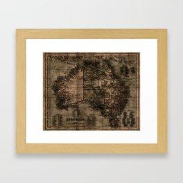Vintage Map of Australia Framed Art Print