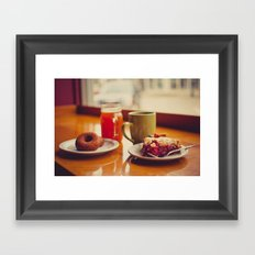Downtown with a Friend Framed Art Print