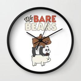 we bare bears friends Wall Clock