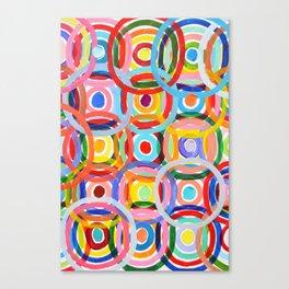Ornamental Polka Daubs Canvas Print