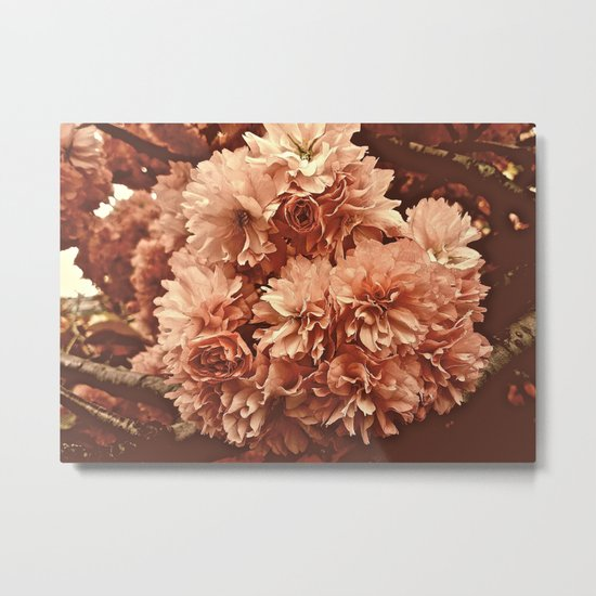 Vintage Ornamental Plum Blossoms Metal Print