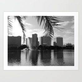 City Lake Views Art Print