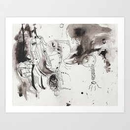 questioning the muse (again) Art Print