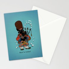 Scottie with a bagpipe Stationery Cards