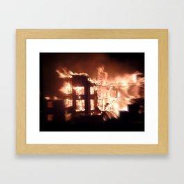 Gilbert,  Arizona Aparment Fire Framed Art Print