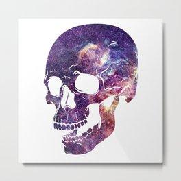 galaxy skull Metal Print