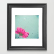 A Splash of Pink Framed Art Print
