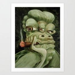 Alien Joe Monster Art Print