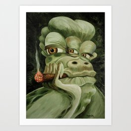 Alien Joe Monster Art Print