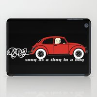 volkswagon iPad Cases featuring Snug as a Thug in a Bug (red) by The Wallpaper Files