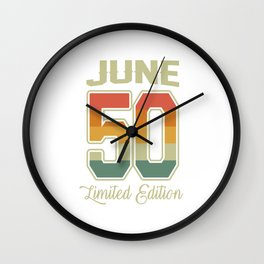 Vintage 70th Birthday June 1950 Sports Gift Wall Clock