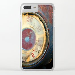 Old Speed Clear iPhone Case