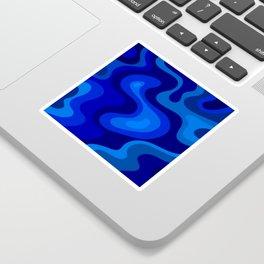Multicolor Blue Liquid Abstract Design Sticker
