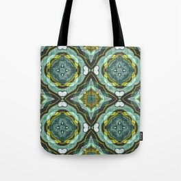 Colorful Chic Retro Abstract Batik Style Kaleidoscope Pattern Tote Bag