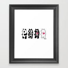 Panda Anatomy Framed Art Print