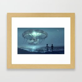 Brother and Sister - Misquamicut Beach - Jeanpaul Ferro Framed Art Print