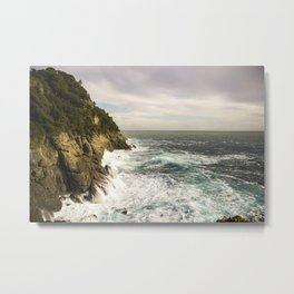 Portofino Cliffs Metal Print