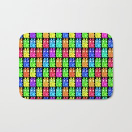 Pixel Gummy Bears Bath Mat