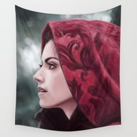 ruby Wall Tapestries featuring Ruby by Svenja Gosen