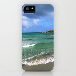 green seascape iPhone Case
