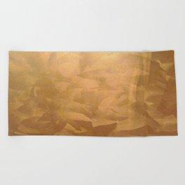 Brushed Copper Metallic - Beautiful - Rustic Glam - Fancy Faux Finishes - Metallic Paint Beach Towel