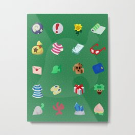 Animal Crossing: Your Pockets Are Full Metal Print
