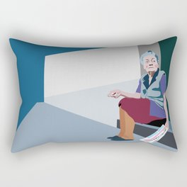 Old woman Rectangular Pillow