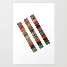 Watercolor Lines Art Print