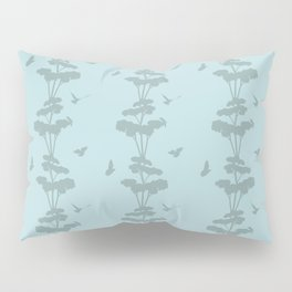 Birds And The Giant Tree - Blue/Gray Pillow Sham