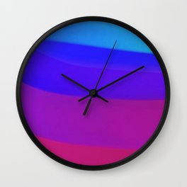 Far Away Blue Wall Clock