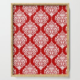 Red Damask Serving Tray