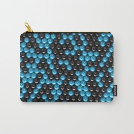 Pattern of black and blue spheres Carry-All Pouch