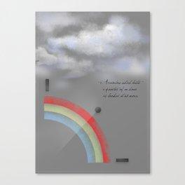 A quarter rainbow Canvas Print