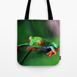 Little Tree Frog (Color) Tote Bag