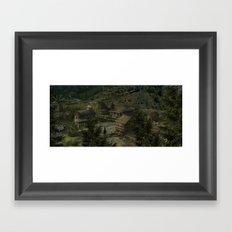 Farm Town Framed Art Print