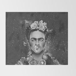 Frida kahlo Space Throw Blanket