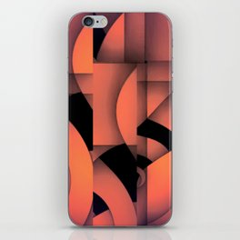 pastel curves abstract iPhone Skin