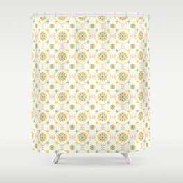 Vintage Peranakan Tiles Shower Curtain